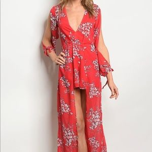 Pants - NWT Floral Romper Dress like Fashion Nova